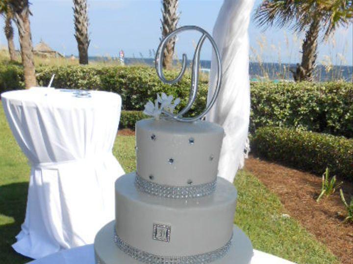 Tmx 1416347658934 Crystal  Rinestone Elegance Destin, FL wedding cake