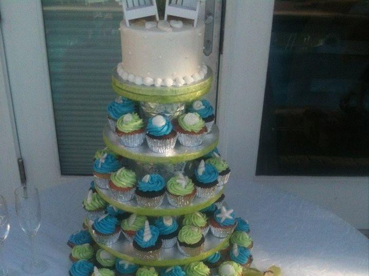Tmx 1416349119058 Cupcakes In The Sand Destin, FL wedding cake