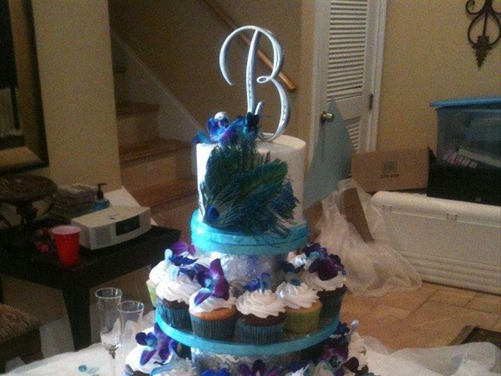 Tmx 1416349125946 Peacock Feather Cupcakes 1 Destin, FL wedding cake