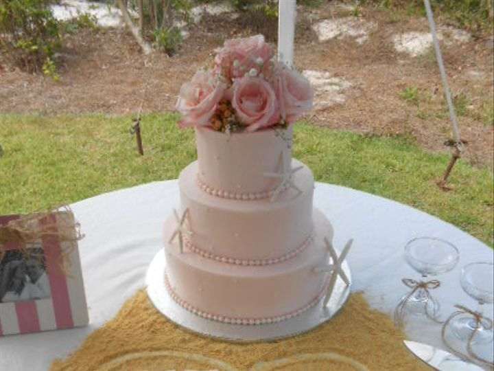 Tmx 1416349698389 Beachside Sand Blush Cake Destin, FL wedding cake
