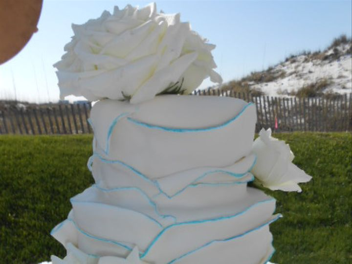 Tmx 1440033422346 Flowering Fondent Destin, FL wedding cake