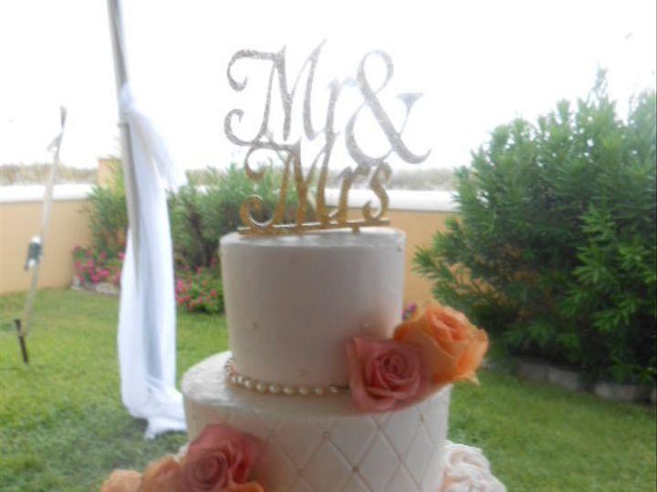 Tmx 1440034356661 Emylns Blush With Cultured Pearls Border Destin, FL wedding cake