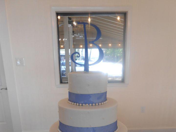 Tmx 1458510643144 Blue Ribbon Pearl Elegance Casy  Jims Dream  Destin, FL wedding cake