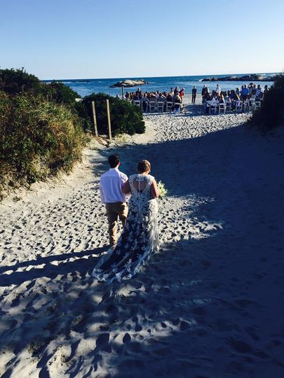 Wedding day at the beach