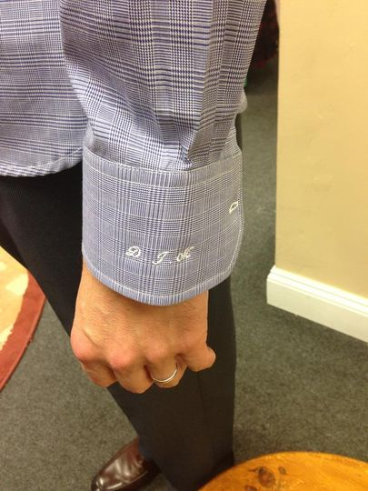 Initials on the cuff
