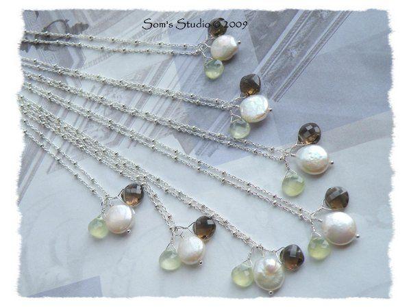 Tmx 1274551691760 CoinPearlPrehniteSmokyQuartzNecklace2 Rochester wedding jewelry