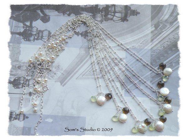 Tmx 1274551718635 CoinPearlPrehniteSmokyQuartzNecklace4 Rochester wedding jewelry