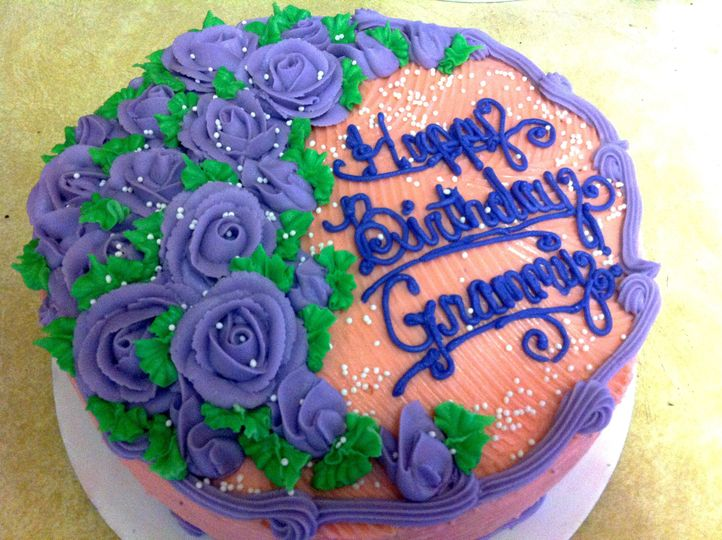 Happy Birthday Cake - Black magic chocolate cake with Italian meringue buttercream and vanilla...
