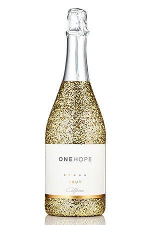 California Sparkling Brut Gold Glitter Bottle  Our ONEHOPE California Sparkling Wine is light in...