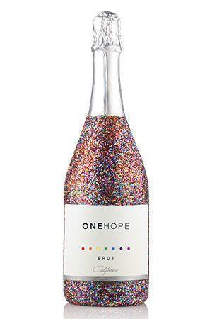 California Sparkling Brut Rainbow Glitter Bottle  Every 4 bottles funds one hour of operational...