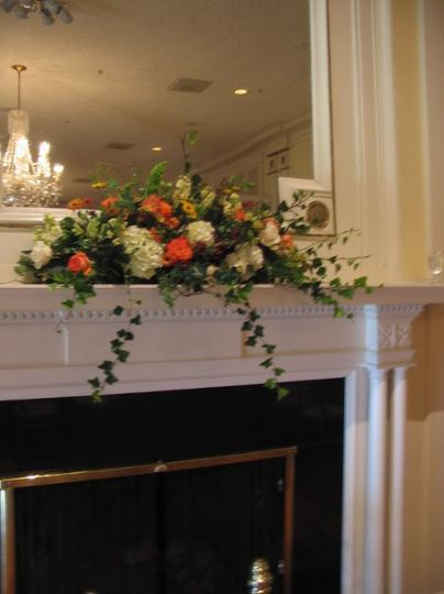 Mantle Flowers for Belle Meade Country Club Ballroom