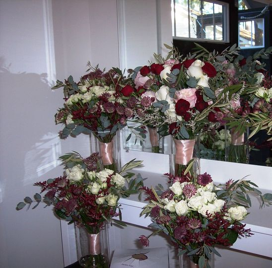 Lush burgundy and blush