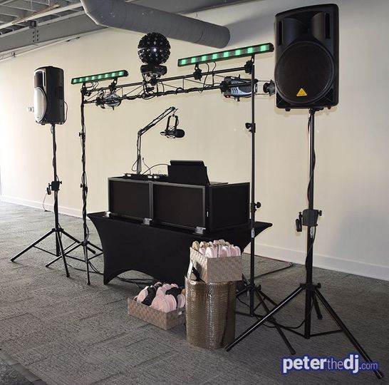 Peter Naughton Productions DJ setup in Syracuse, NY
