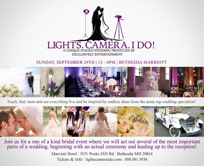 Come see us live, along with some of DC's top wedding professionals on September 29th, 2013 at...
