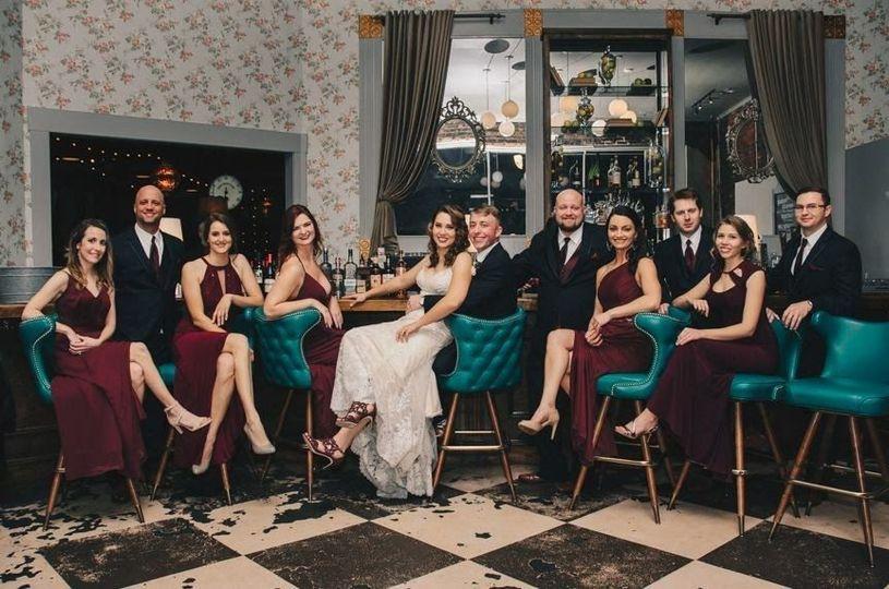 Classy wedding attendants