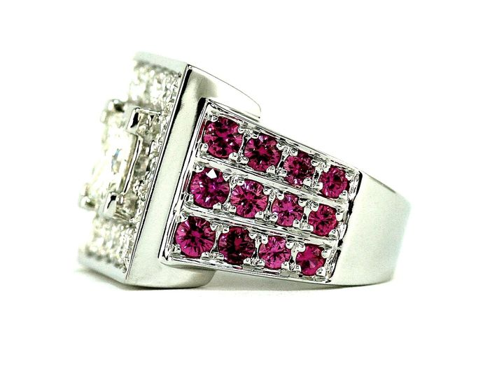 Diamonds & Pink Sapphires 18K
