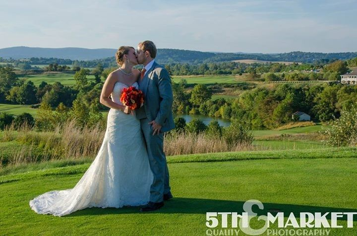 Elevation changes around the course create beautiful backdrops to your big day