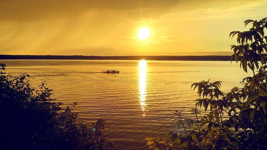 Sailing under the sunset