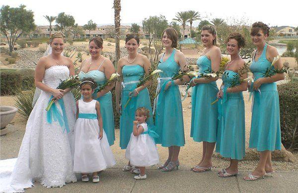 Bride, flower girls ,brides Maides 1,2,5&6