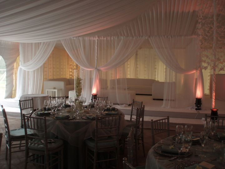 wedding with draping