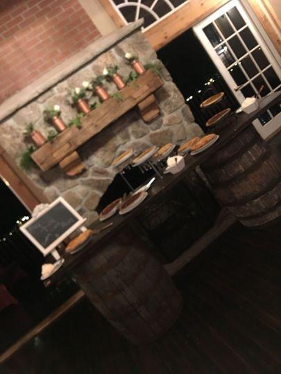 The wine barrels