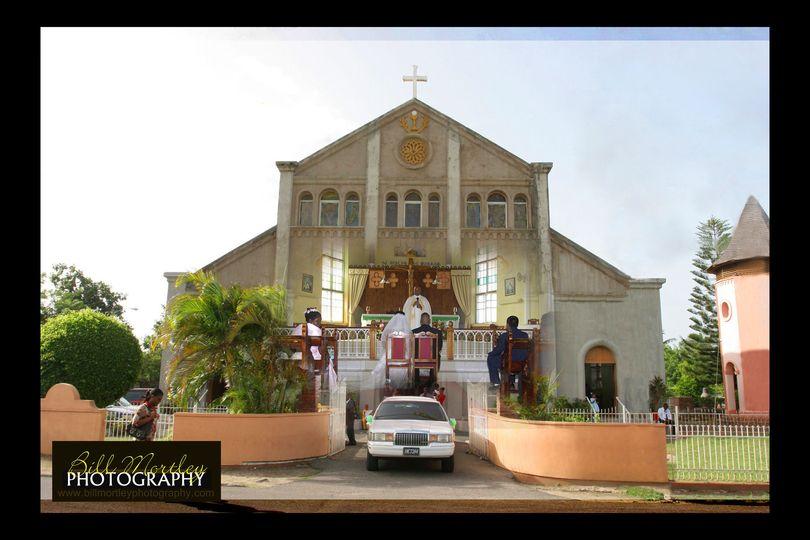 GrosIslet RC church wedding