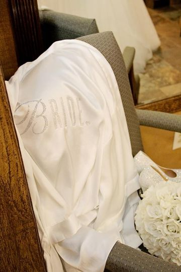 The bride's robe