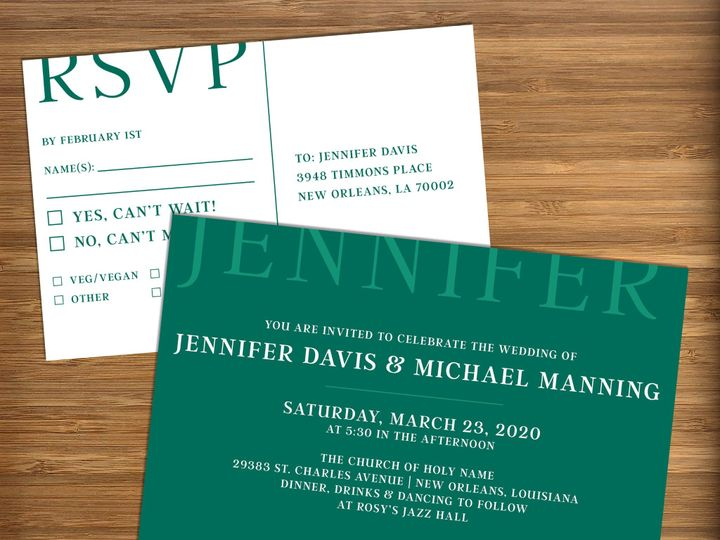 Tmx Cropped Type Wedding Teal Staged 2 51 499102 158162296694431 New Orleans wedding invitation