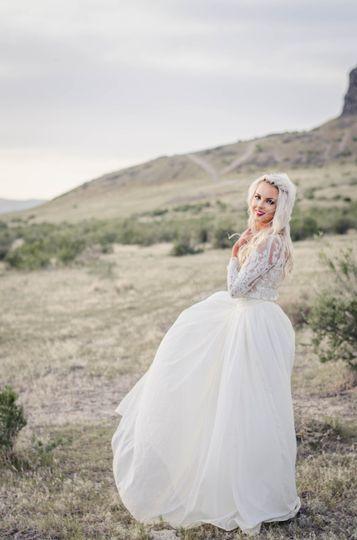Lone Rock bridal shoot