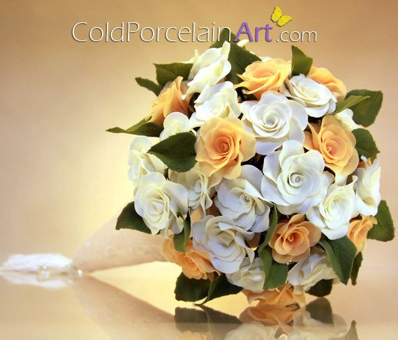 Customized Bouquet with Handcrafted Flowers with pearls accents
