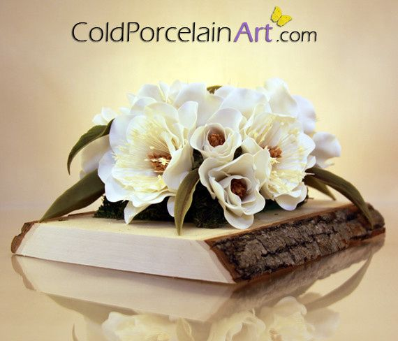 Tmx 1404246335699 Cold Porcelain Art   Centerpieces   Magnolias 1 Ankeny, IA wedding florist