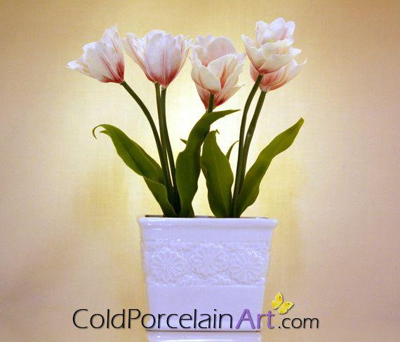 Tmx 1404246337850 Cold Porcelain Art   Centerpieces   White  Red Tul Ankeny, IA wedding florist