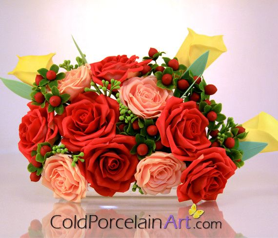 Tmx 1404246342723 Cold Porcelain Art   Weddings   Red Roses   Bouque Ankeny wedding florist
