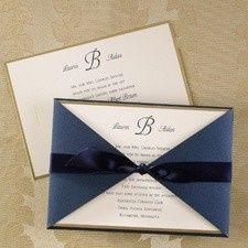 blue borders of gold invitatio