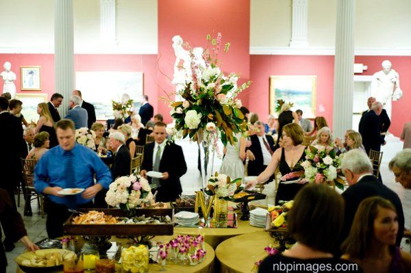 The Sculpture Gallery is a great space to kick-off the reception with cocktails and hors d'oeuvres.