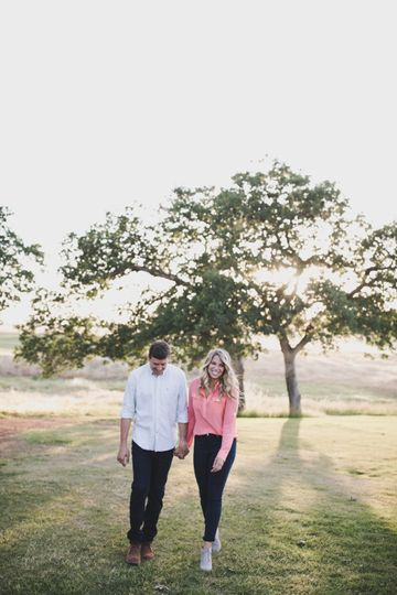 Engagement session, sunset