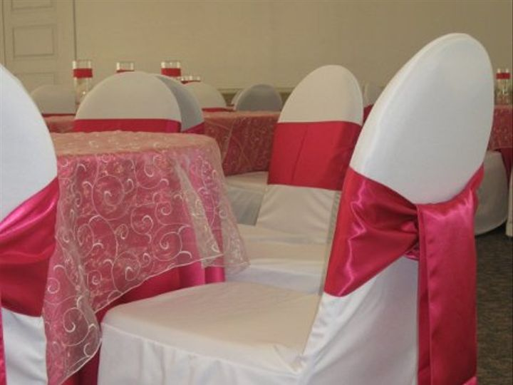 Tmx 1302547623404 Whitechaircoverwpinksach Costa Mesa wedding rental