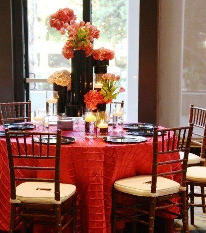 Tmx 1302548258373 Pinkpintuckblackchargers Costa Mesa wedding rental