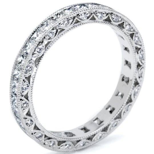 One example of the wedding bands offered by Tacori.