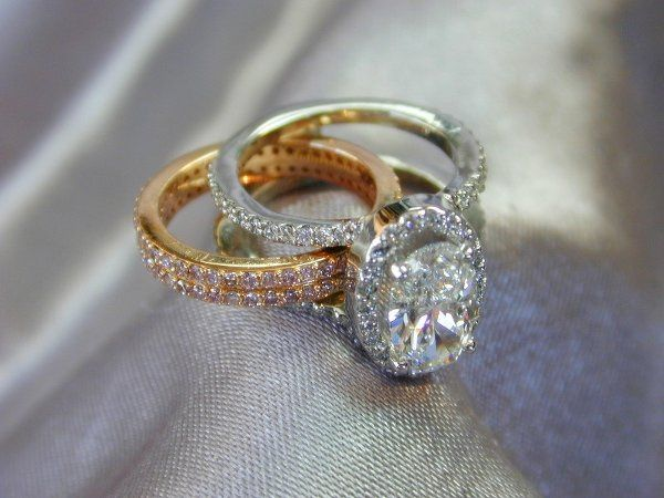 This custom-designed wedding set was created by our resident designer, Thomas Farley.