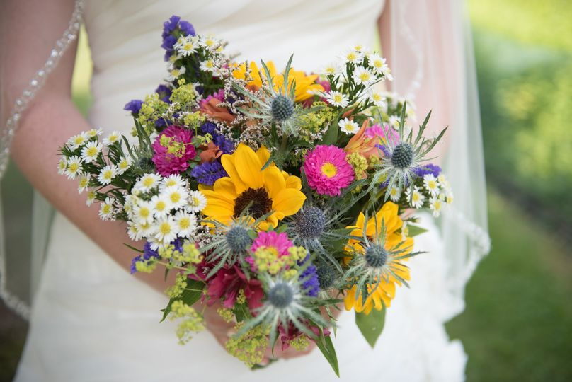 Colorful country bouquet