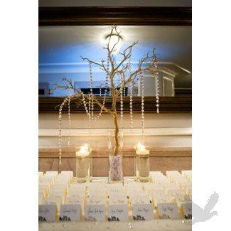 Crystal Garlands accentuating a Placecard Centerpiece.