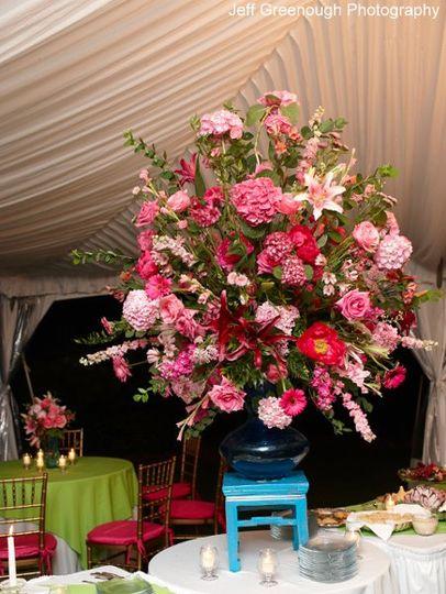 Large flower arrangement   Photo courtesy of Jeff Greenough