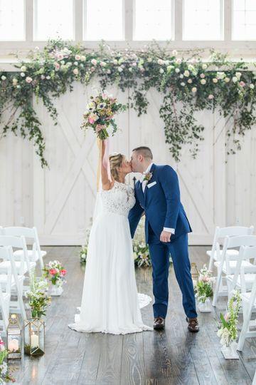A Ceremony in The Rustic Barn
