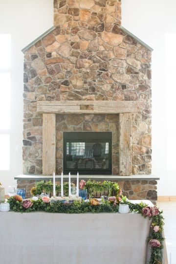 The Rose Barn Fireplace