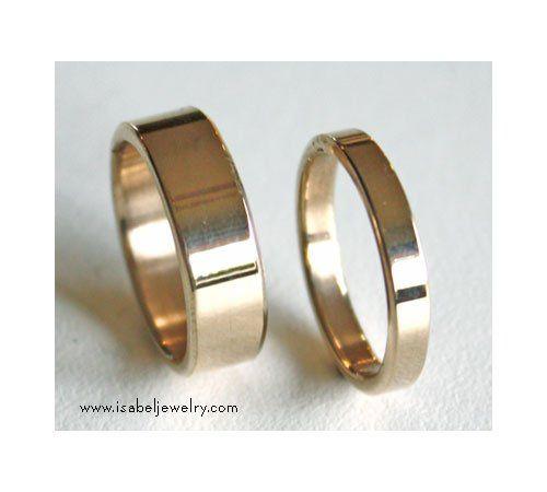 Tmx 1270585510284 FlatbandscomboYellowlg Pinedale wedding jewelry