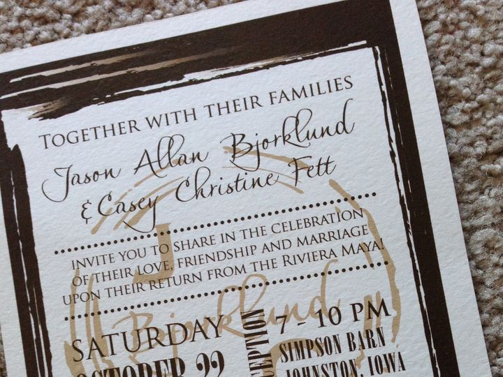 Tmx 1447863623490 Bjorklund Ankeny, IA wedding invitation