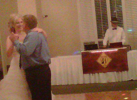 Parent and bride dancing