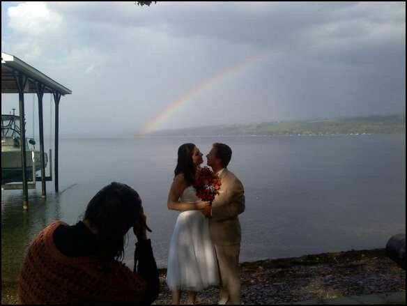 Rainbow at the wedding