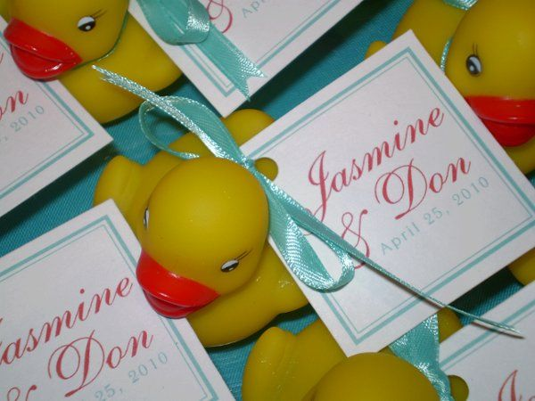 Jasmine and Don's wedding favors